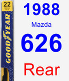 Rear Wiper Blade for 1988 Mazda 626 - Premium