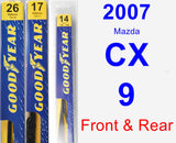 Front & Rear Wiper Blade Pack for 2007 Mazda CX-9 - Premium