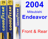 Front & Rear Wiper Blade Pack for 2004 Mitsubishi Endeavor - Premium
