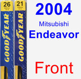 Front Wiper Blade Pack for 2004 Mitsubishi Endeavor - Premium