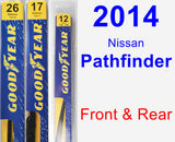 Front & Rear Wiper Blade Pack for 2014 Nissan Pathfinder - Premium