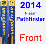 Front Wiper Blade Pack for 2014 Nissan Pathfinder - Premium