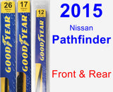 Front & Rear Wiper Blade Pack for 2015 Nissan Pathfinder - Premium