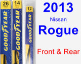 Front & Rear Wiper Blade Pack for 2013 Nissan Rogue - Premium