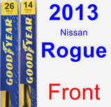 Front Wiper Blade Pack for 2013 Nissan Rogue - Premium