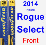 Front Wiper Blade Pack for 2014 Nissan Rogue Select - Premium