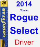 Driver Wiper Blade for 2014 Nissan Rogue Select - Premium