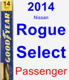 Passenger Wiper Blade for 2014 Nissan Rogue Select - Premium
