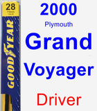 Driver Wiper Blade for 2000 Plymouth Grand Voyager - Premium