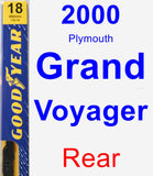 Rear Wiper Blade for 2000 Plymouth Grand Voyager - Premium