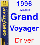 Driver Wiper Blade for 1996 Plymouth Grand Voyager - Premium