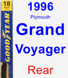 Rear Wiper Blade for 1996 Plymouth Grand Voyager - Premium