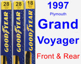 Front & Rear Wiper Blade Pack for 1997 Plymouth Grand Voyager - Premium