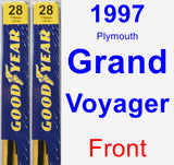 Front Wiper Blade Pack for 1997 Plymouth Grand Voyager - Premium