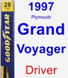 Driver Wiper Blade for 1997 Plymouth Grand Voyager - Premium