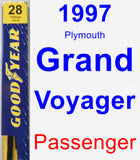Passenger Wiper Blade for 1997 Plymouth Grand Voyager - Premium