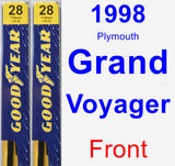 Front Wiper Blade Pack for 1998 Plymouth Grand Voyager - Premium