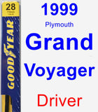 Driver Wiper Blade for 1999 Plymouth Grand Voyager - Premium