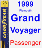 Passenger Wiper Blade for 1999 Plymouth Grand Voyager - Premium
