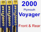 Front & Rear Wiper Blade Pack for 2000 Plymouth Voyager - Premium