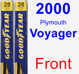 Front Wiper Blade Pack for 2000 Plymouth Voyager - Premium