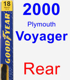 Rear Wiper Blade for 2000 Plymouth Voyager - Premium
