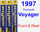 Front & Rear Wiper Blade Pack for 1997 Plymouth Voyager - Premium