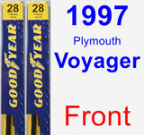 Front Wiper Blade Pack for 1997 Plymouth Voyager - Premium