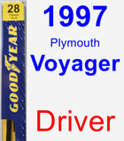 Driver Wiper Blade for 1997 Plymouth Voyager - Premium
