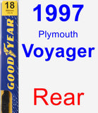 Rear Wiper Blade for 1997 Plymouth Voyager - Premium