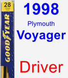 Driver Wiper Blade for 1998 Plymouth Voyager - Premium