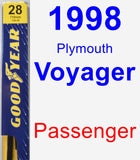 Passenger Wiper Blade for 1998 Plymouth Voyager - Premium