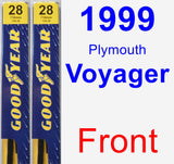 Front Wiper Blade Pack for 1999 Plymouth Voyager - Premium