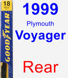 Rear Wiper Blade for 1999 Plymouth Voyager - Premium