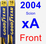 Front Wiper Blade Pack for 2004 Scion xA - Premium