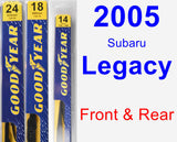 Front & Rear Wiper Blade Pack for 2005 Subaru Legacy - Premium