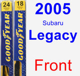 Front Wiper Blade Pack for 2005 Subaru Legacy - Premium
