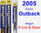 Front & Rear Wiper Blade Pack for 2005 Subaru Outback - Premium