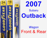 Front & Rear Wiper Blade Pack for 2007 Subaru Outback - Premium