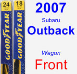 Front Wiper Blade Pack for 2007 Subaru Outback - Premium