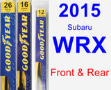 Front & Rear Wiper Blade Pack for 2015 Subaru WRX - Premium