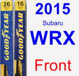 Front Wiper Blade Pack for 2015 Subaru WRX - Premium