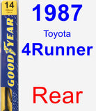 Rear Wiper Blade for 1987 Toyota 4Runner - Premium