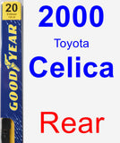 Rear Wiper Blade for 2000 Toyota Celica - Premium