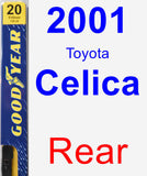 Rear Wiper Blade for 2001 Toyota Celica - Premium