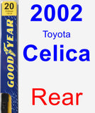 Rear Wiper Blade for 2002 Toyota Celica - Premium