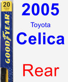 Rear Wiper Blade for 2005 Toyota Celica - Premium