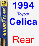 Rear Wiper Blade for 1994 Toyota Celica - Premium