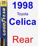 Rear Wiper Blade for 1998 Toyota Celica - Premium