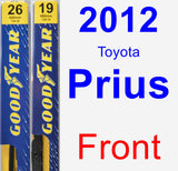 Front Wiper Blade Pack for 2012 Toyota Prius - Premium
